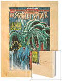 The Spectacular Spider-Man Speci Cover: Lizard Wood Print by Joe St. Pierre