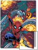 Friendly Neighbourhood Spider-Man No.1 Cover: Spider-Man Charging Prints by Mike Wieringo