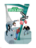 Spidey Sunday Spectacular! No.1 Cover: Spider-Man Leaning Against a Lamp Post Plastic Sign by Marcos Martin