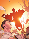 Marvel Knights Spider-Man No.14 Cover: Virtue, Peter Parker Flying Plastic Sign by Billy Tan