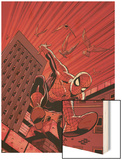 Friendly Neighbourhood Spider-Man No.1 Cover: Spider-Man Wood Print by Mike Wieringo
