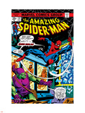 The Amazing Spider-Man No.137 Cover: Spider-Man and Green Goblin Plastic Sign by Ross Andru