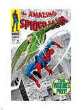 The Amazing Spider-Man No.64 Cover: Vulture and Spider-Man Fighting Plastic Sign by Don Heck