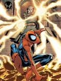 Marvel Adventures Spider-Man No.15 Cover: Spider-Man and Dr. Doom Plastic Sign by Patrick Scherberger