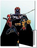 Spider-Girl No.92 Cover: Spider-Girl, Shadowcat and Magneto Prints by Ron Frenz