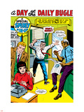 The Amazing Spider-Man No.5: J. Jonah Jameson Screaming Plastic Sign by Larry Lieber