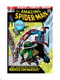 The Amazing Spider-Man No.108 Cover: Spider-Man Swimming Plastskilt av John Romita Sr.