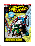 The Amazing Spider-Man No.108 Cover: Spider-Man Swimming Plastic Sign by John Romita Sr.