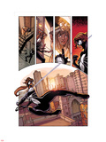 Spider-Island: The Amazing Spider-Girl No.1: Spider-Girl Swinging and Screaming through the City Wall Decal by Pepe Larraz