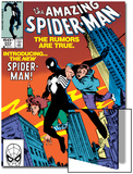 Amazing Spider-Man No.252 Cover: Spider-Man Swinging Prints by Ron Frenz