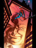 Ultimate Spider-Man No.110 Cover: Spider-Man and Kingpin Crawling Plastic Sign by Mark Bagley
