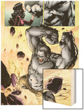 Ultimate Fallout No.3: Panels with Hulk Smashing Wood Print by Steve Kurth