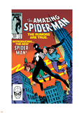 Amazing Spider-Man No.252 Cover: Spider-Man Swinging Wall Decal by Ron Frenz