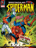 Spectacular Spider-Man No.114 Cover: Spider-Man, Captain Britain and Red Skull Plastic Sign by Jon Haward