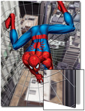 Spider-Man Above the City, Crawling on Web Prints