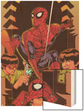 Spider-Man: Brand New Day - Extra!! No.1 Cover: Spider-Man Wood Print by Tony Harris