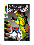 The Amazing Spider-Man No.67 Cover: Mysterio and Spider-Man Plastskilt av John Romita Sr.