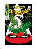 The Amazing Spider-Man No.63 Cover: Vulture Flying Plastskilt av John Romita Sr.