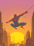 Spectacular Spider-Man No.27 Cover: Spider-Man Swinging Plastic Sign by Mark Buckingham
