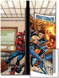 Marvel Adventures Spider-Man No.39 Cover: Spider-Man, Fatastic Four Prints by Patrick Scherberger