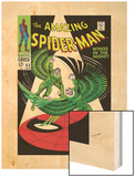 The Amazing Spider-Man No.63 Cover: Vulture Flying Wood Print by John Romita Sr.