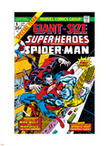 Giant-Size Super-Heroes No.1 Cover: Spider-Man, Morbius and Man-Wolf Fighting Plastic Sign by Gil Kane