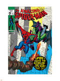 The Amazing Spider-Man No.97 Cover: Spider-Man and Green Goblin Plastic Sign by Gil Kane