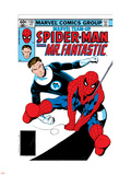 Marvel Team-Up No.132 Cover: Spider-Man and Mr. Fantastic Plastic Sign by Sal Buscema