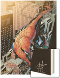 Spectacular Spider-Man No.13 Cover: Spider-Man Wood Print by Scott Damion