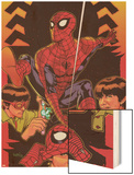Spider-Man: With Great Power&No.5 Cover: Spider-Man, Peter Parker Wood Print by Tony Harris