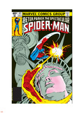The Spectacular Spider-Man Cover: Spider-Man, Peter Parker, and Human Torch Plastic Sign by Mike Zeck