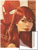 Web of Spider-Man No.11 Cover: Mary Jane Watson in front of a Poster Wood Print by Jelena Djurdjevic