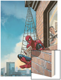 Marvel Adventures Spider-Man No.51 Cover: Spider-Man Wood Print by Nolan Graham