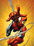 Ultimate Spider-Man No.160 Cover: Spider-Man Shooting Web Plastic Sign by Mark Bagley