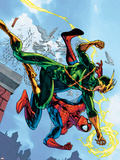 Marvel Adventures Spider-Man No.5 Cover: Spider-Man and Electro Plastic Sign by Patrick Scherberger