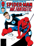 Marvel Team-Up No.132 Cover: Spider-Man and Mr. Fantastic Print by Sal Buscema