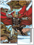 Thor: Heaven and Earth No.3: Thor Smashing with Mjolnir Prints by Pascal Alixe