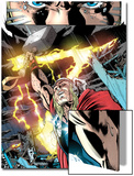 Thor: First Thunder No.5: Thor with Mjolnir and Lightning Prints by Tan Eng Huat