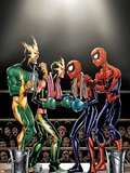 Spider-Girl No.81 Cover: Spider-Girl, Spider-Man, Electro and Aftershock Wall Decal by Ron Frenz