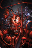 Superior Carnage 5 Cover: Carnage, Spider-Man, Wizard Plastic Sign by Clayton Crain