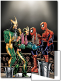 Spider-Girl No.81 Cover: Spider-Girl, Spider-Man, Electro and Aftershock Posters by Ron Frenz