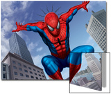 Spider-Man Jumping In the City Prints