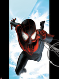 Ultimate Spider-Man No.1 Cover: Spider-Man Swinging Wall Decal by Kaare Andrews