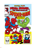 Marvel Tails: Spider-Ham No.1 Cover: Spider-Ham, Captain Americat and Hulkbunny Flying Wall Decal by Mark Armstrong