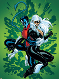 Spider-Man and The Black Cat No.5 Cover: Nightcrawler and Black Cat Plastic Sign by Terry Dodson