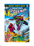 Amazing Spider-Man No.122 Cover: Spider-Man, Gwen Stacy, and Green Goblin Flying Plastic Sign
