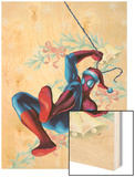Marvel Holiday Special 1 Cover: Spider-Man Wood Print
