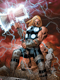 Ultimate Thor No.1 Cover: Thor Posing Plastic Sign by Carlos Pacheco
