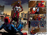 Ultimate Comics Spider-Man No.5: Spider-Man Faces Spider Woman Plastic Sign by Sara Pichelli