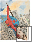 Spider-Man In the City Wood Print